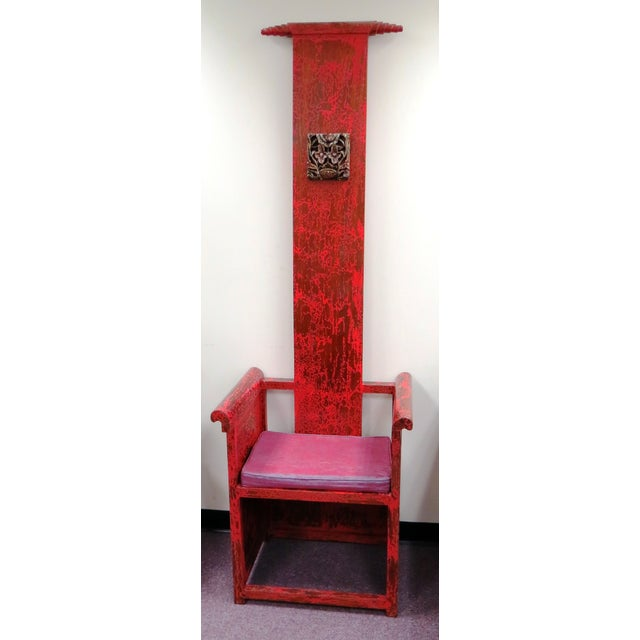 """Tall Asian Alter Chair 81""""High - Image 2 of 6"""