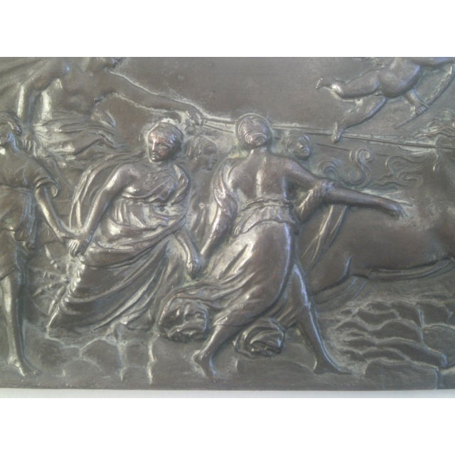 A wonderful Florentine miniature bronze over metal cast relief depicting the work of G. Gambogi. This is a great curio or...
