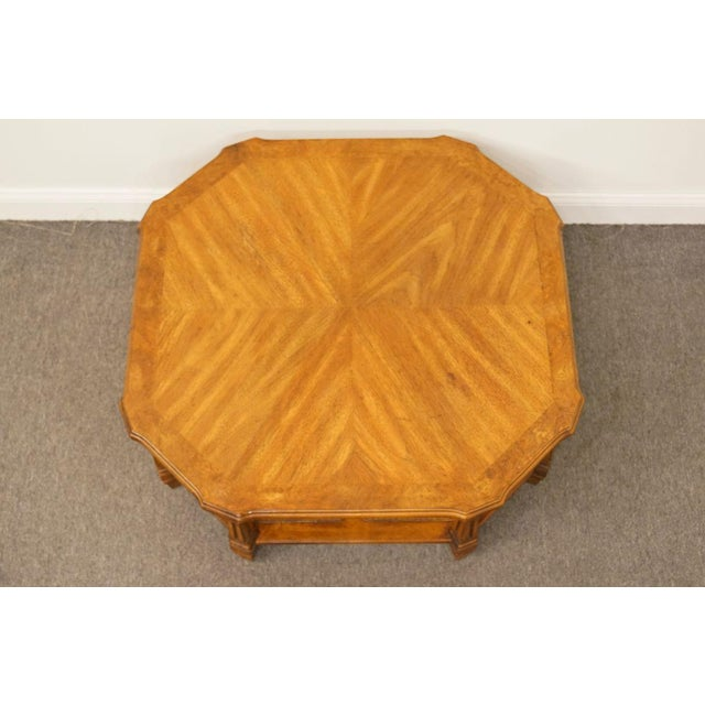 Late 20th Century Late 20th Century Vintage Mersman Rustic Country Octagonal Coffee Table For Sale - Image 5 of 10