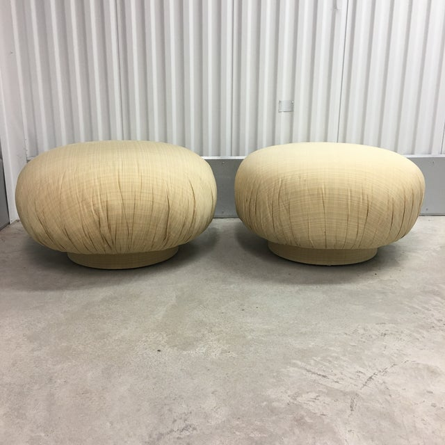 Steve Chase Swivel Poufs/Ottomans- a Pair For Sale In New York - Image 6 of 6