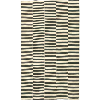 Mid 20th Century Vintage Persian Kilim Composition Rug- 7′10″ × 13′ For Sale
