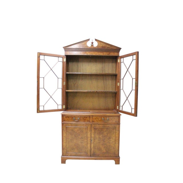 Burled Walnut Curio Cabinet - Image 2 of 2