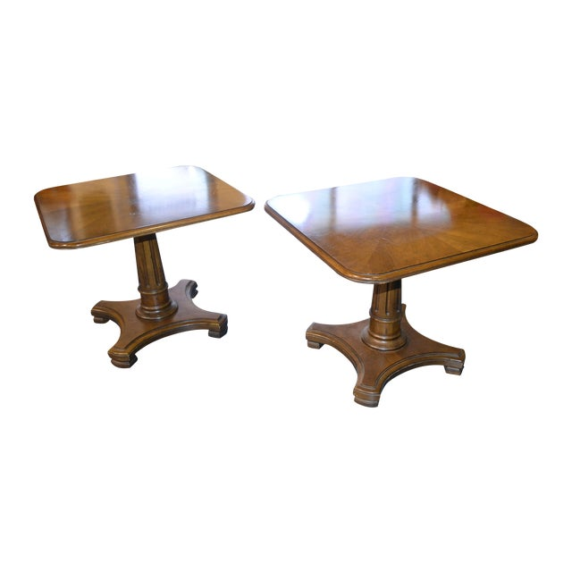 Henredon Neoclassical Side Tables - Pair - Image 1 of 3