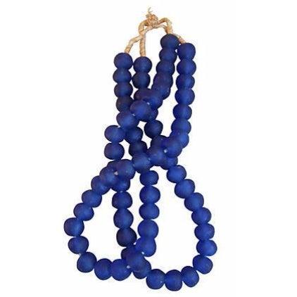 Jumbo Cobalt Blue Glass Beads - a Pair - Image 1 of 3