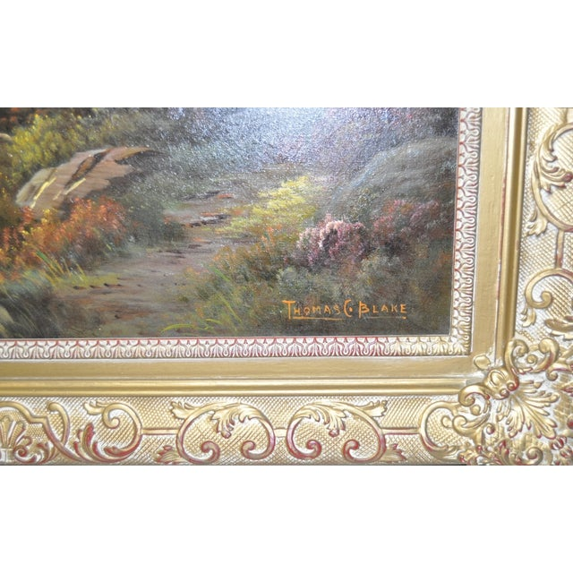 Antique 1920s Scottish Highlands Oil Painting - Image 4 of 7