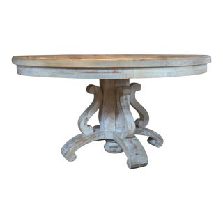Rustic Acacia Wood Dining Table