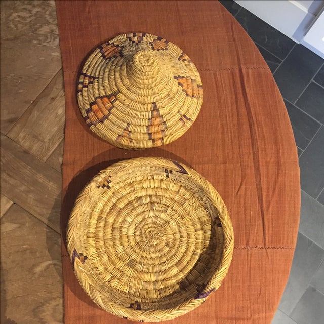 Moroccan Basket With Lid - Image 4 of 6
