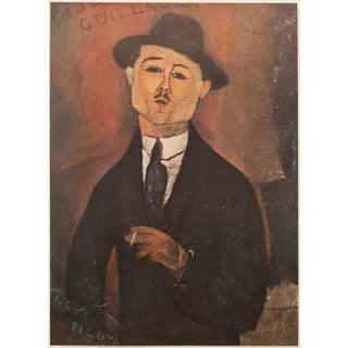 1940s Vintage Portrait De Paul Guillaume Original Lithographic by Amedeo Modigliani For Sale
