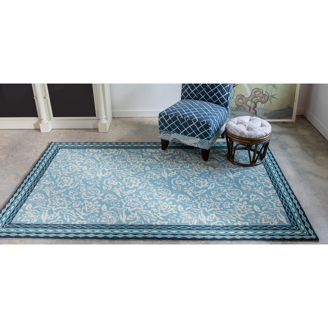 Madcap Cottage Under a Loggia Rokeby Road Blue Indoor/Outdoor Area Rug 2' X 3' For Sale - Image 4 of 5