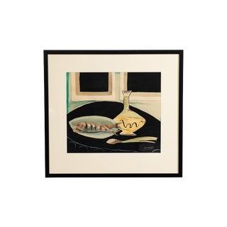 Vintage Still Life Gouache Painting by Lin Von Goltz For Sale