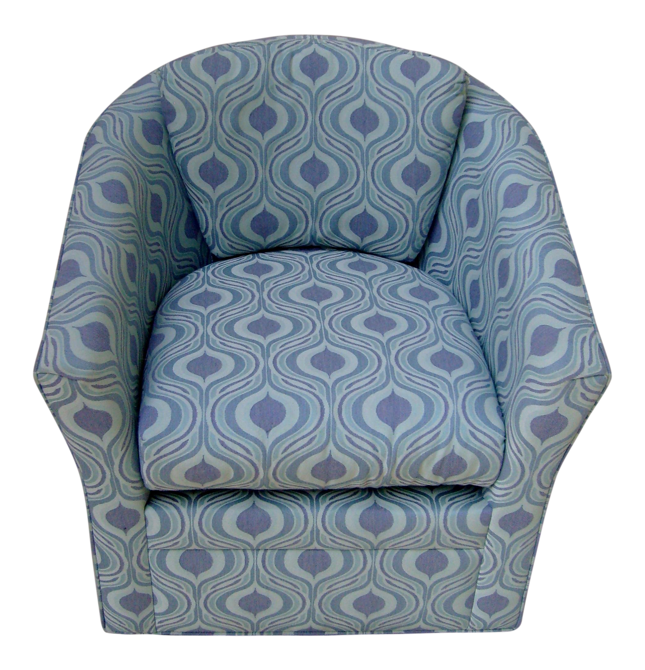 Younger Furniture Mod Aqua U0026 Purple Compact Swivel Club Accent Chair