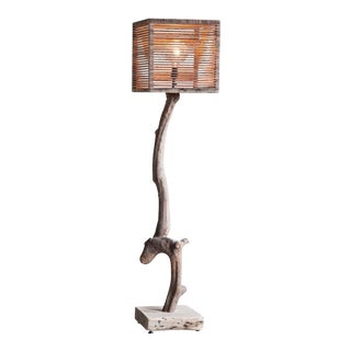 Standing Rhododendron Trunk Floor Lamp For Sale