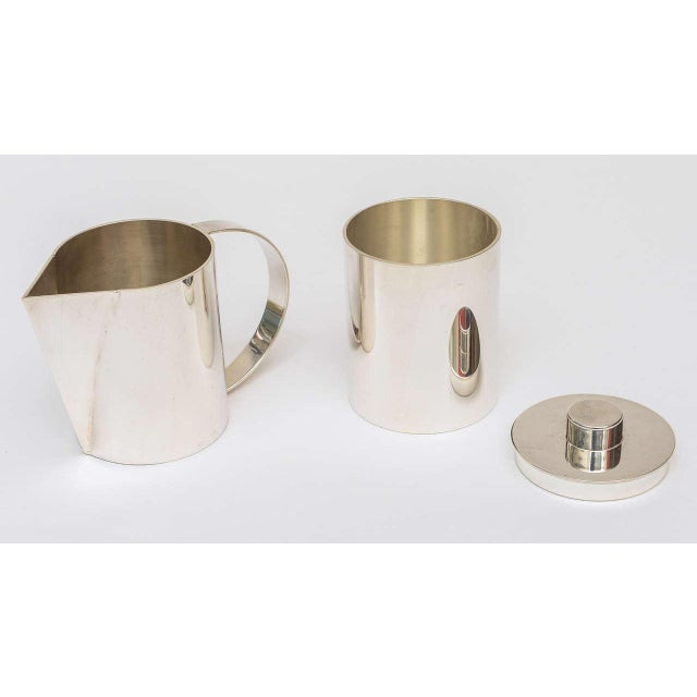 Silver Plate Swid Powell for Calvin Klein Three-Piece Coffee Service For Sale - Image 9 of 11
