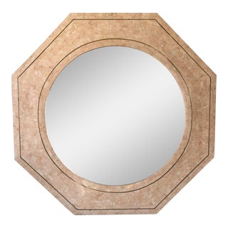 Maitland-Smith Tessellated Stone Mirror For Sale