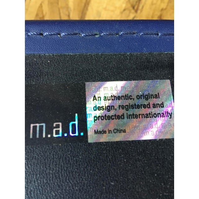 Metal Modern Trace Leather Lounge Chair by m.a.d. Furniture For Sale - Image 7 of 8
