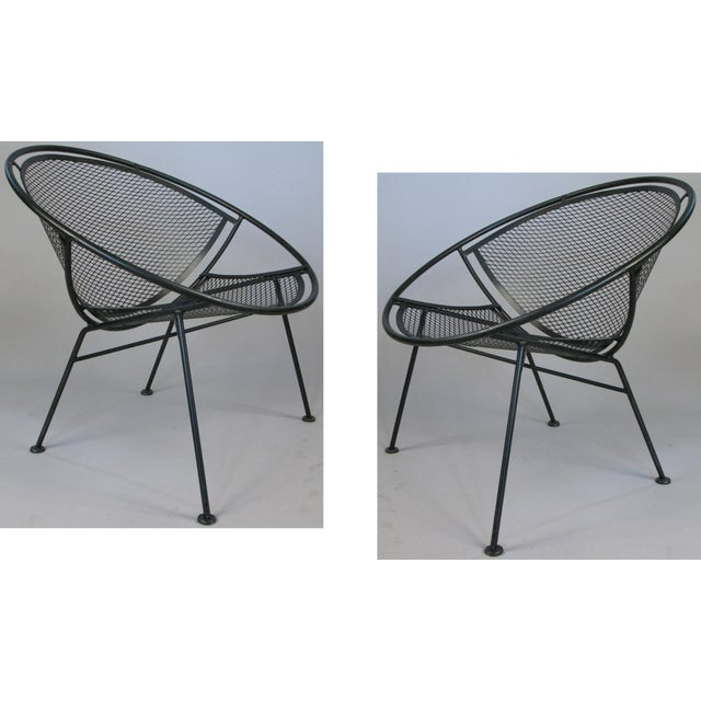Metal Salterini 'Radar' Collection Lounge Chairs by Tempestini- A Pair For Sale - Image 7 of 7