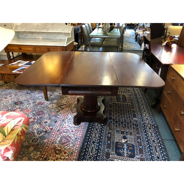 1900s British Colonial Mahogany Drop Leaf Table For Sale - Image 13 of 13