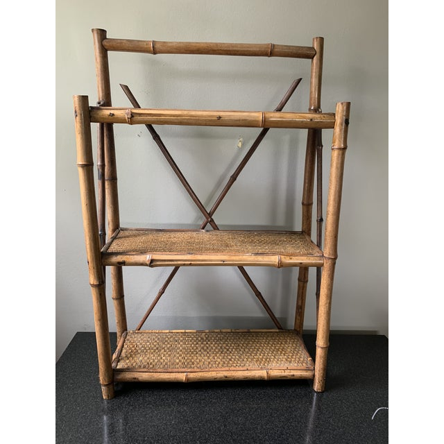 Early 20th Century Early 20th Century Bamboo Hanging Shelf For Sale - Image 5 of 5