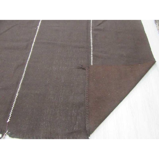 Vintage Dark Brown Nomad Tente Kilim Rug - 10′2″ × 11′10″ For Sale - Image 4 of 6