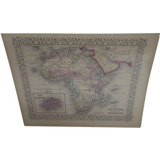 Vintage 1860 Original Map of Africa For Sale