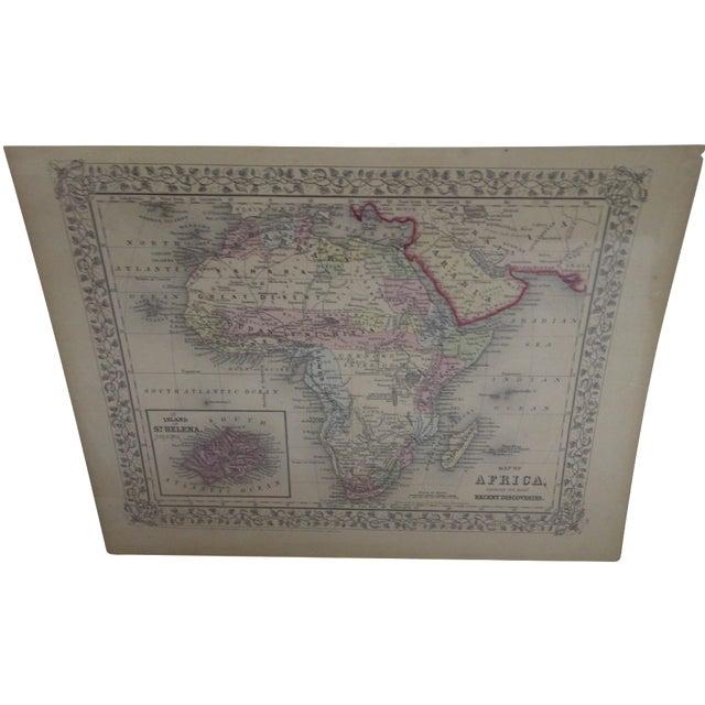 Vintage 1860 Original Map of Africa For Sale