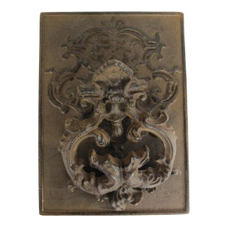 Large Iron Scroll Design Door Knocker For Sale