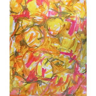 "Extra-Large Abstract Expressionist Oil Painting by Trixie Pitts ""Chinese New Year"""