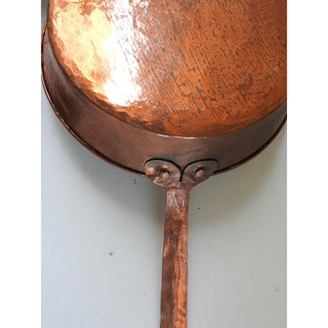 Hand Forged Copper Cooking Pans - Set of 3 For Sale - Image 9 of 10