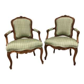 Louis XIV Style French Chairs - A Pair For Sale