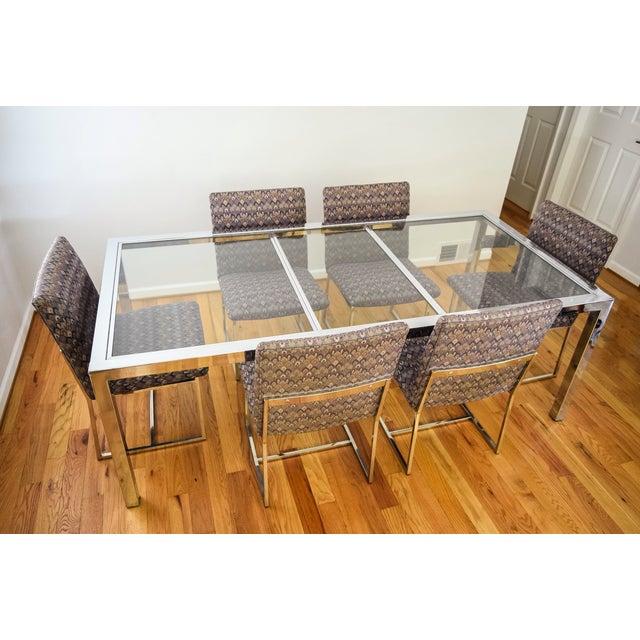 DIA - Design Institute America Mid-Century Dia Milo Baughman Dining Set For Sale - Image 4 of 11