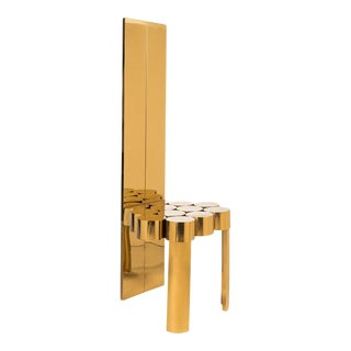 Paloma Gold Accent Chair For Sale