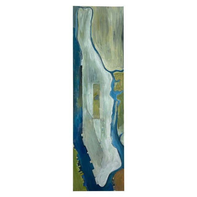 """Chase Langford """"Manhattan No. 1"""", Expressionist Oil Painting, 2003 For Sale - Image 13 of 13"""