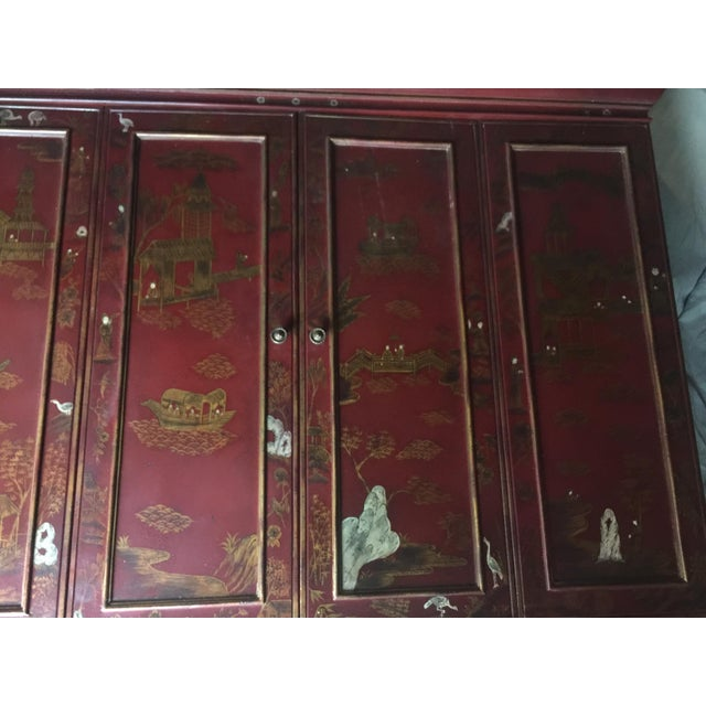 Maitland Smith Chinoiserie Wall Cabinet For Sale In Austin - Image 6 of 9