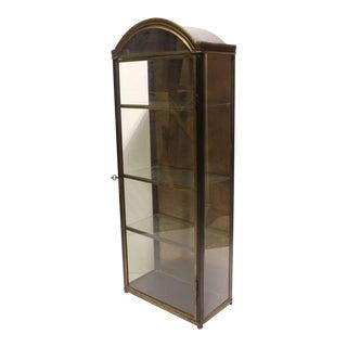 Vintage Italian Brass Curio Cabinet