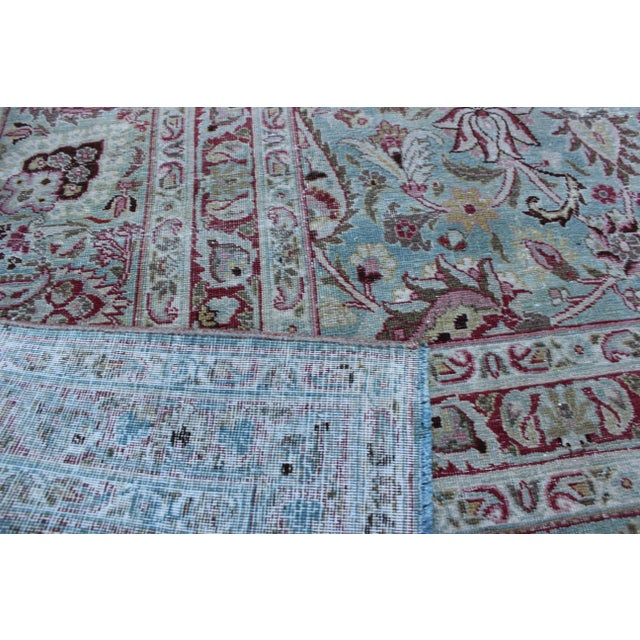 Textile Vintage Mashad Wool Rug - 9′1″ × 12′ For Sale - Image 7 of 8