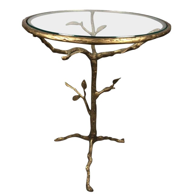 Late 20th Century Bronze Tree Table For Sale