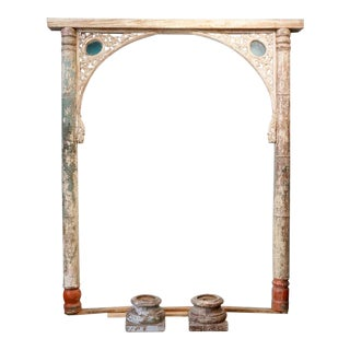 Vintage Teak Architectural Arch & Columns For Sale