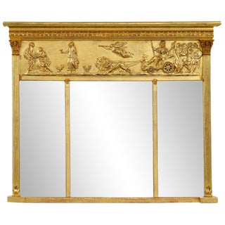 English Giltwood Overmantel Mirror For Sale