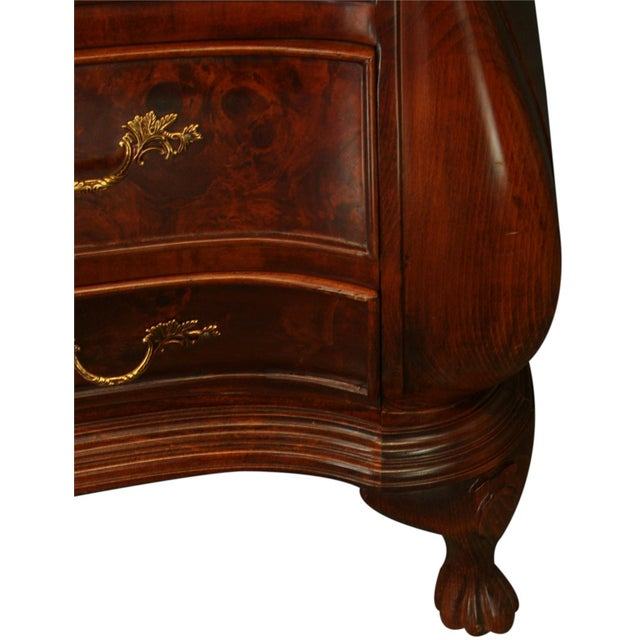 Burled Wood Dutch Bombe Chest of Drawers - Image 6 of 8
