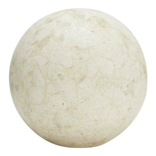 1990s Contemporary Tessellated Matte Mactan Stone Sphere - 5.5 In. Diameter For Sale