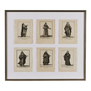 Antique French 6-Image of Religious Figures