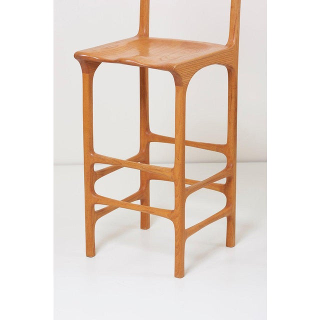 Pair of Tall Back Studio Bar Stools, Us, 1970s For Sale - Image 6 of 7