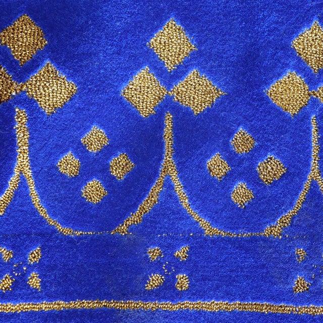 Custom Blue & Gold Stark Area Rug- 8′ × 10′ For Sale - Image 10 of 13