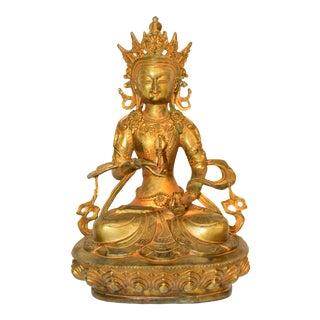 Early 20th Century Gilt Bronze Tibetan Buddha Vajrassatva For Sale