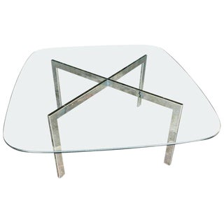 Milo Baughman Chrome and Glass Cocktail Table For Sale