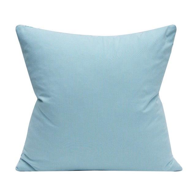 Lee Jofa Bunny Fabric - Hutch Print Aqua - Hunt Slonem - Lee Jofa - Lumbar 20x20 Inch For Sale - Image 4 of 6