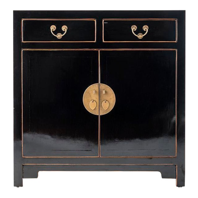Asia Black Hallway Zen Cabinet For Sale