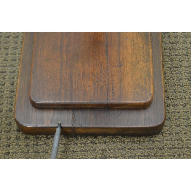 Art Deco Vintage Pair of Mahogany Smoke Stands Possibly Gilbert Rhode For Sale - Image 10 of 13
