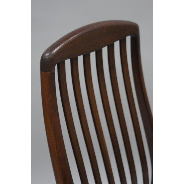 Mid-Century Modern Vintage Dyrlund Mid Century Danish Modern Teak Dark Wood Dining Side Chair For Sale - Image 3 of 11