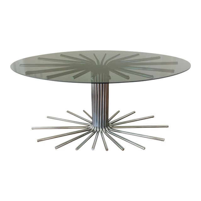 Mid-Century Chrome Starburst Dining Table For Sale